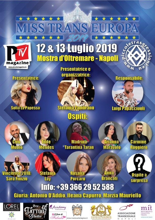 Miss Trans Europa il 12 e 13 luglio alla Mostra d'Oltremare