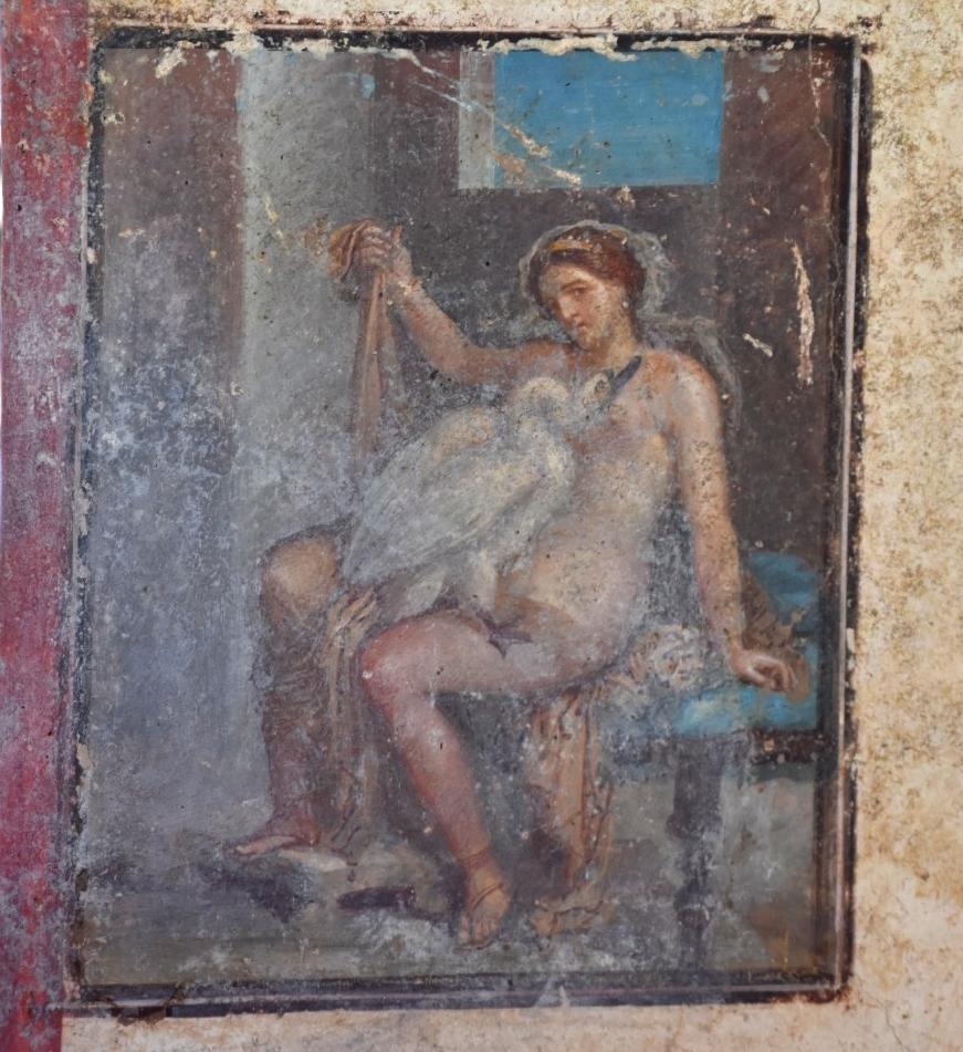 Pompei: aprono terme centrali, casa degli amorini dorati, via Vesuvio, visibile anche Leda con il Cigno. Si presenta il libro del direttore Osanna sui nuovi scavi