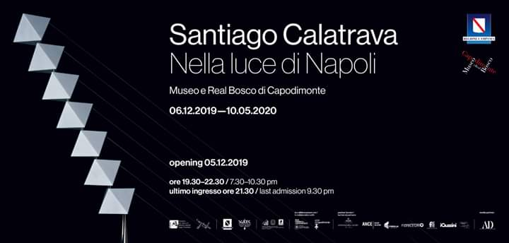 """Santiago Calatrava a Capodimonte con """"Nella luce di Napoli"""". Per opening previsto anche il trasporto"""