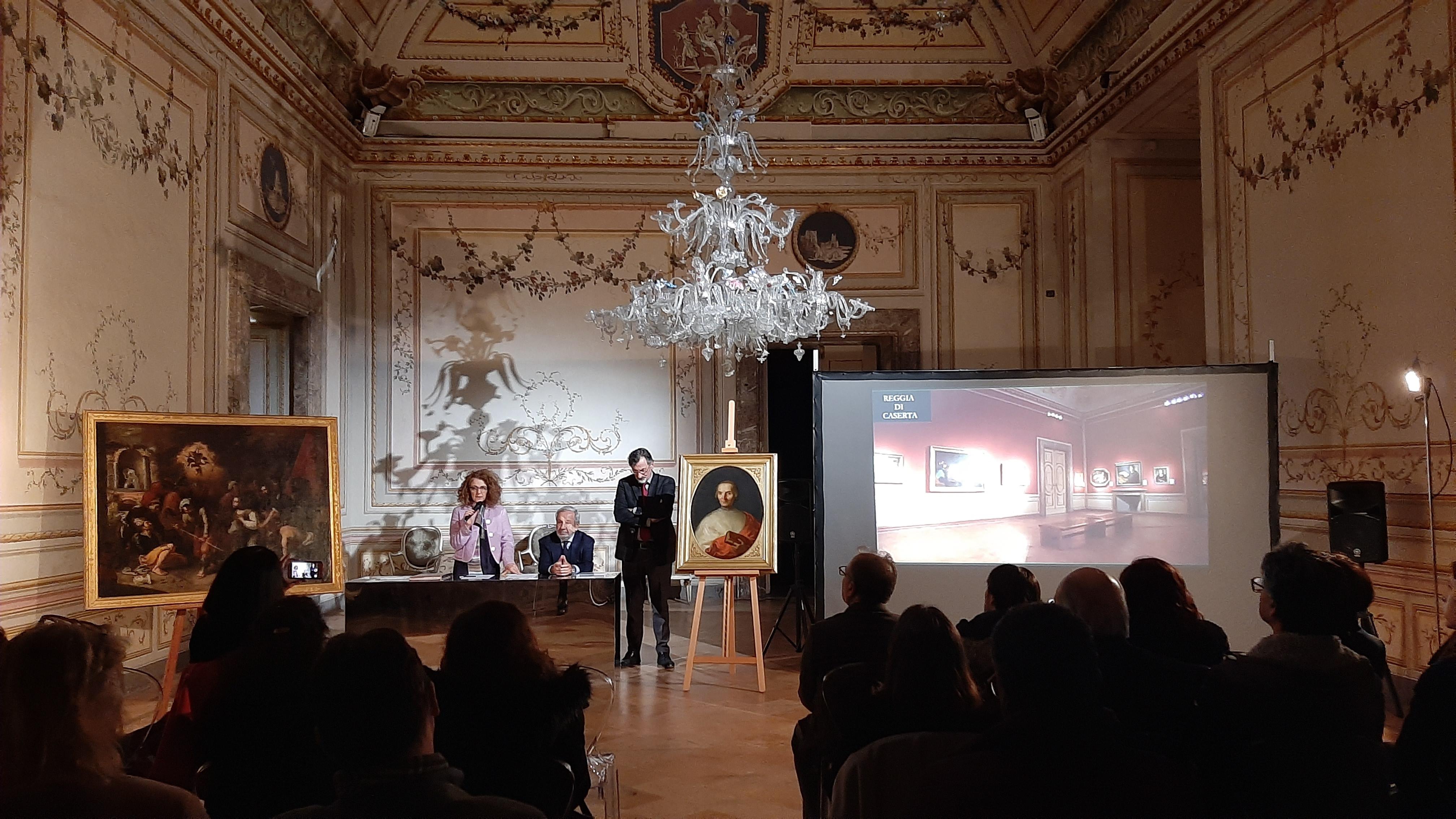 Due nuovi quadri arricchiscono la Reggia di Caserta, donazione Lampronti