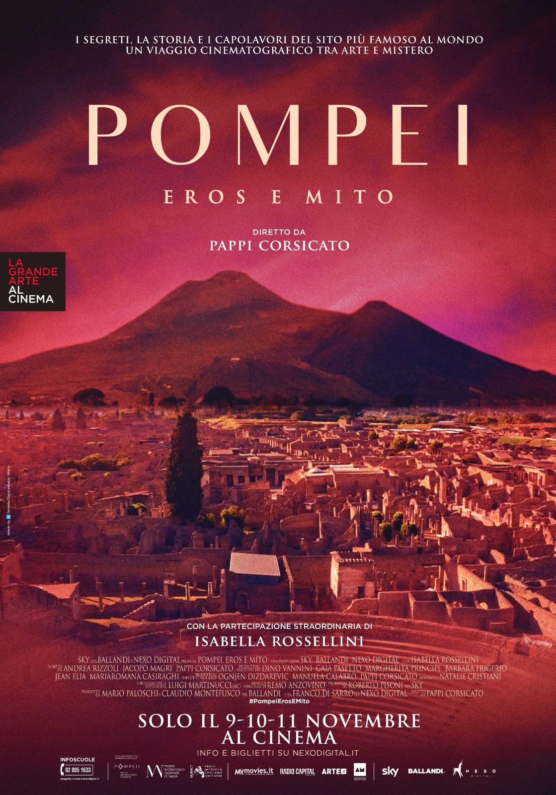 Pompei. Eros e mito. A Novembre il film di Pappi Corsicato con Isabella Rossellini