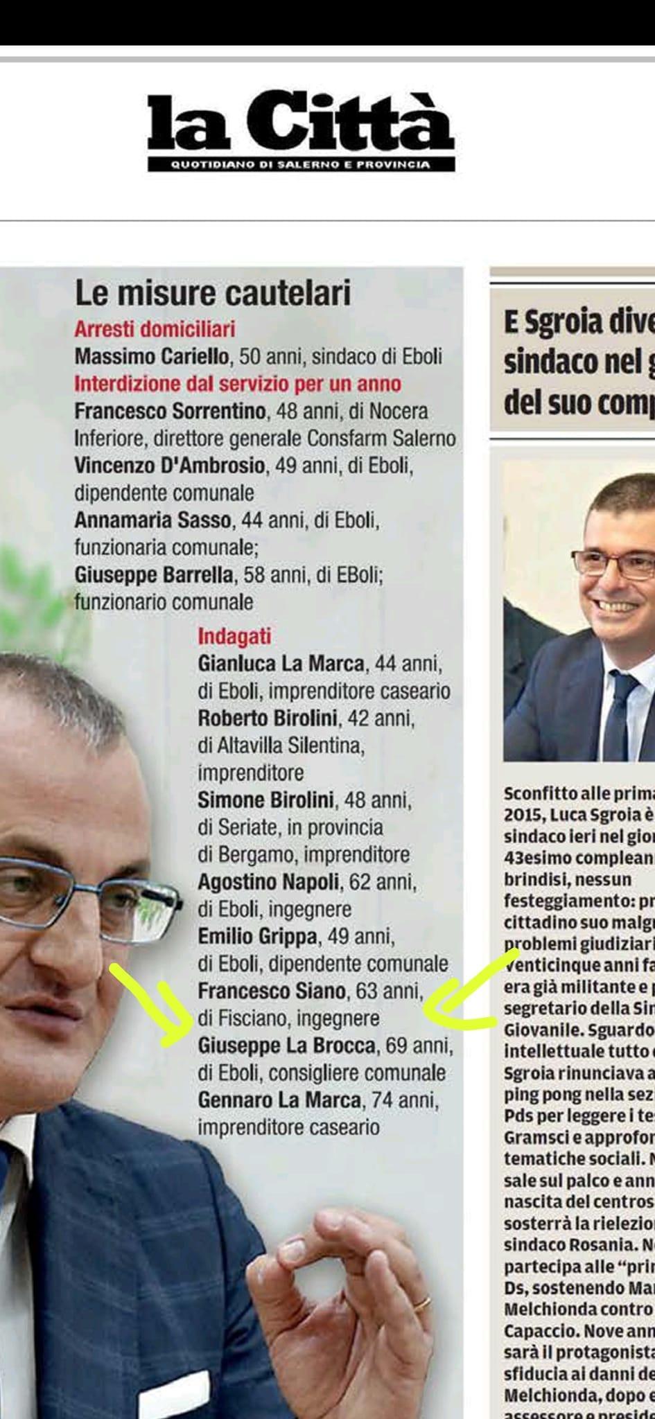 Terremoto Eboli: indagato anche componente staff del sindaco di Roccapiemonte