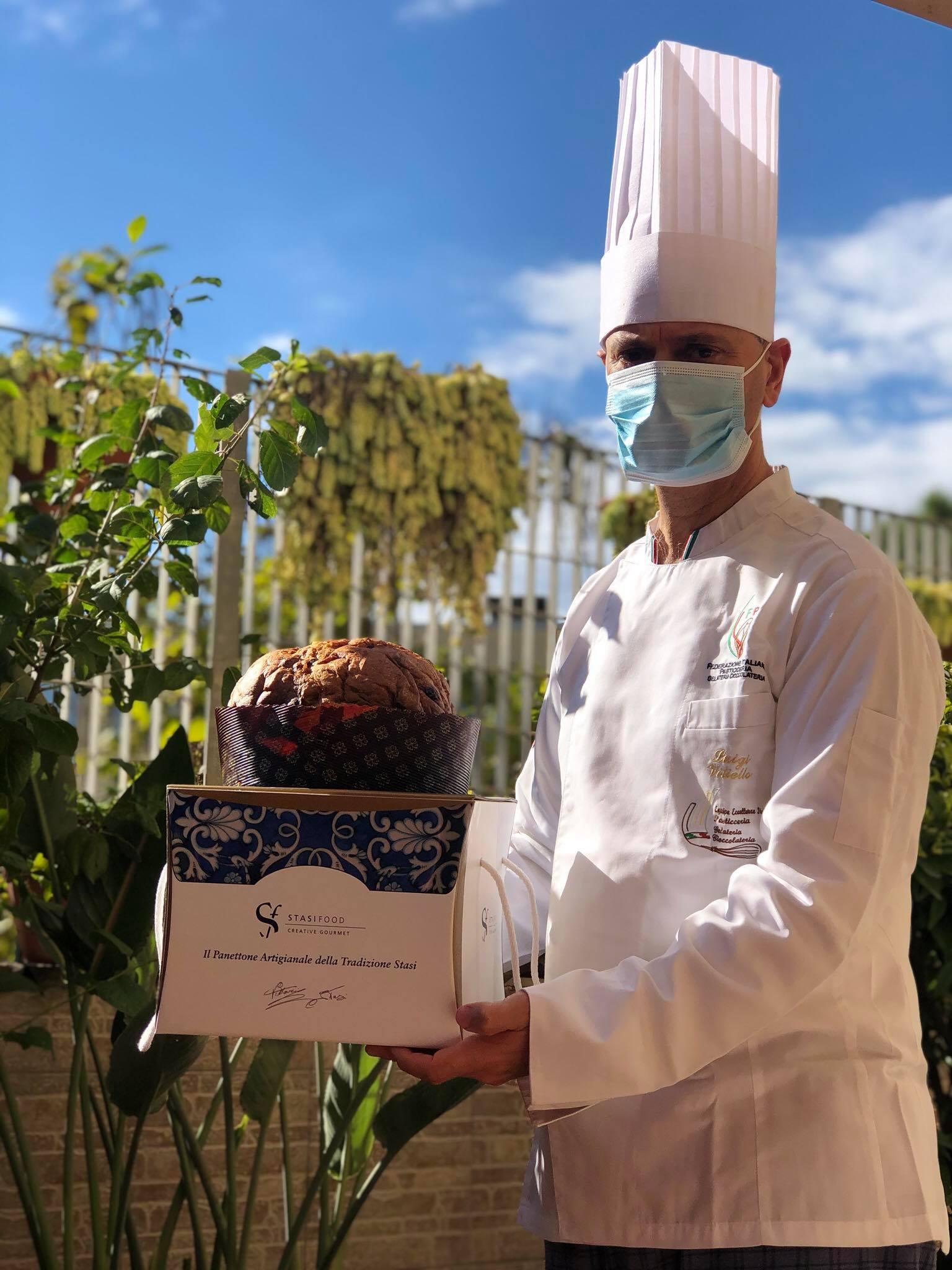 """Il panettone del pastry chef Luigi Vitiello si aggiudica la medaglia d'argento al """"Campionato mondiale miglior panettone del mondo 2020"""""""