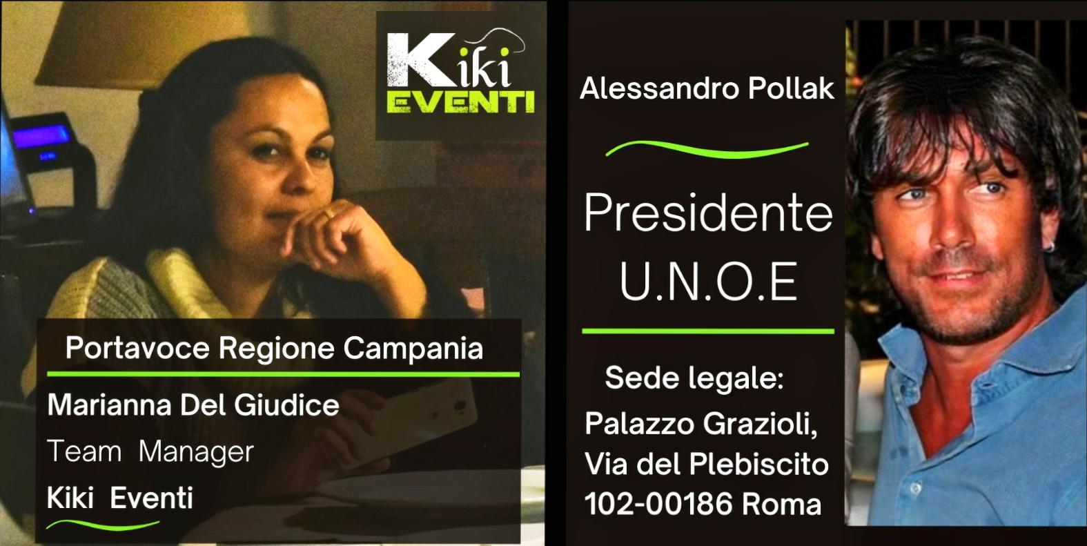 """L'imprenditrice napoletana Marianna del Giudice è la rappresentante per la Campania di U.N.O.E. """"UNIONE NAZIONALE ORGANIZZATORI EVENTI"""""""