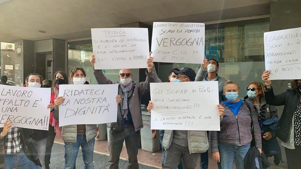 L'INPS promette di pagare la cassa integrazione attesa da sei mesi. I lavoratori di Opera Fiorentina scesi in piazza cantano vittoria
