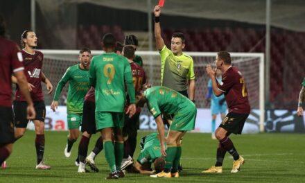 Serie B: seconda sconfitta di fila per la Salernitana