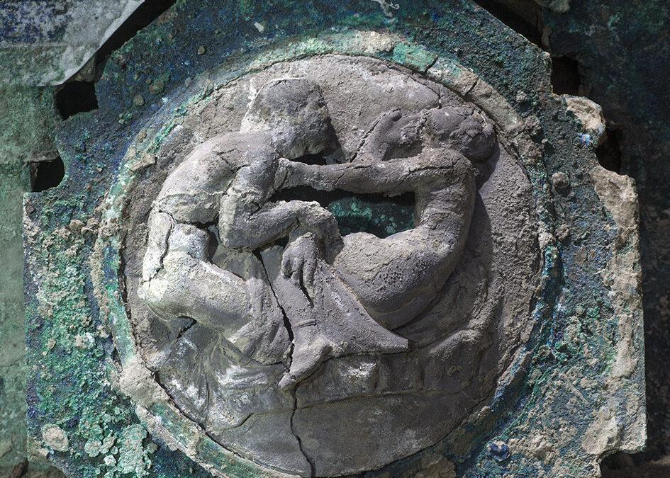 Pompei, un carro cerimoniale romano ritrovato nella zona di Civita Giuliana