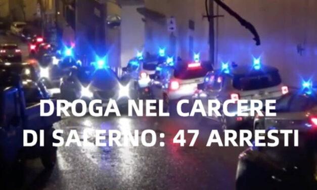 Sgominata organizzazione criminale che trafficava droga e cellulari nel carcere di Salerno: 47 arresti