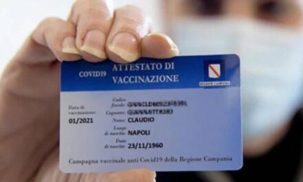 Arriva laGreen passper i vaccinati della Campania