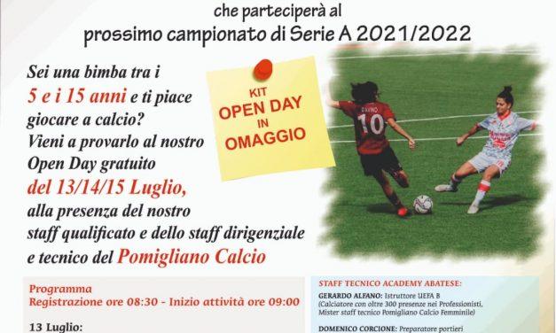 Calcio Femminile: nasce l'Academy Abatese