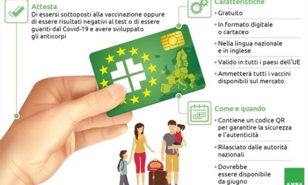 Green pass italiano dal I° luglio: firmato il DPCM, portale già attivo
