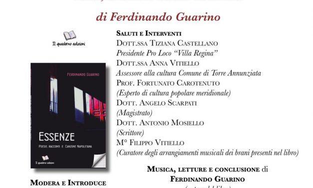 """""""Essenze. Poesie, racconti e Canzone Napoletana"""": riecco Guarino"""