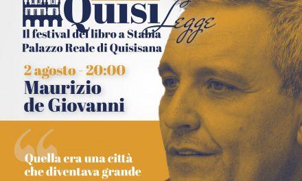 Quisilegge Il festival del libro di Stabia, si parte con Maurizio de Giovanni