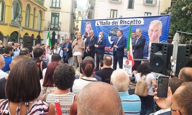 Salerno: Meloni di fuoco, contro De Luca e contro il governo