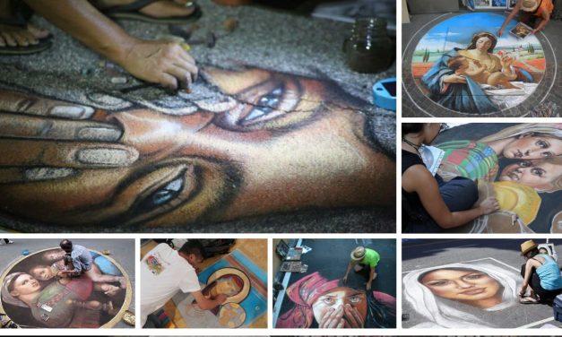 Poster blasfemi, i Madonnari annunciano la manifestazione di protesta: gessetti per dipingere i marciapiedi del PAN