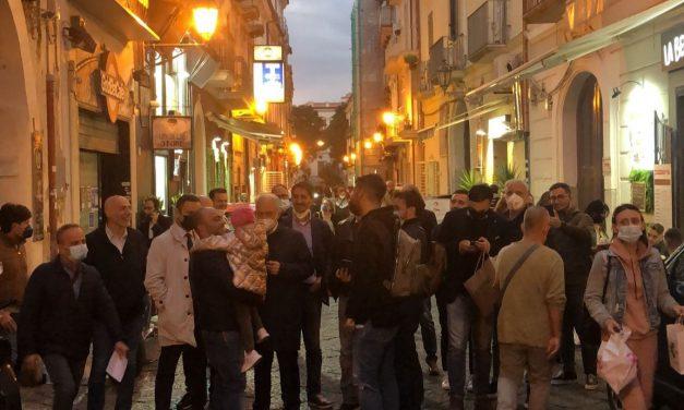 Ballottaggio Caserta, commercianti di via San Carlo con Carlo Marino Sindaco